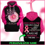 Hihi Store hoodie S / Hoodie Breast Cancer Awareness Faith Hope Love Personalized Name  ALL OVER PRINTED SHIRTS 006