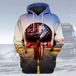 Hihi Store hoodie XS / Hoodie Trucker  All Over Printed Shirts 031602