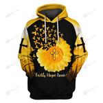 Hihi Store hoodie S / Hoodie Faith Hope Love Lord Jesus Christ 083005
