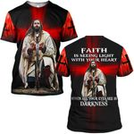Hihi Store hoodie S / T Shirt God Jesus Faith is seeing light with your heart ALL OVER PRINTD SHIRTS 090905