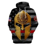 Hihi Store hoodie S / Hoodie US Firefighter Gold mask ALL OVER PRINTED SHIRTS 111304