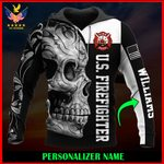 US Firefighter Personalized Name  ALL OVER PRINTED SHIRTS 121204