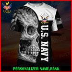 US Navy Personalized Name  ALL OVER PRINTED SHIRTS 121206