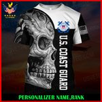 US Coast Guard Personalized Name  ALL OVER PRINTED SHIRTS 121207