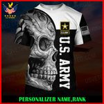 US Army Personalized Name  ALL OVER PRINTED SHIRTS 121203