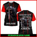 Jesus God August Guy Personalized Name  ALL OVER PRINTED SHIRTS 121708