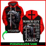 Jesus God March Guy Personalized Name  ALL OVER PRINTED SHIRTS 121703