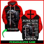 Jesus God June Guy Personalized Name  ALL OVER PRINTED SHIRTS 121706