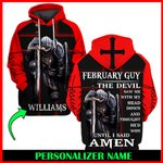 Jesus God February Guy Personalized Name  ALL OVER PRINTED SHIRTS 121702