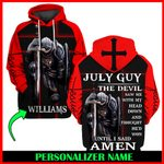 Jesus God July Guy Personalized Name  ALL OVER PRINTED SHIRTS 121707