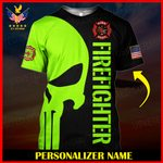 US Firefighter Personalized Name  ALL OVER PRINTED SHIRTS 121901