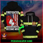 US Firefighter Personalized Name  ALL OVER PRINTED SHIRTS 121803