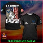 US Air Force Personalized Name  ALL OVER PRINTED SHIRTS 121801