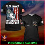 US Navy Personalized Name  ALL OVER PRINTED SHIRTS 121805