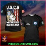 US Coast Guard USCG Personalized Name  ALL OVER PRINTED SHIRTS 121806