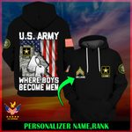 US Army Personalized Name  ALL OVER PRINTED SHIRTS 121802