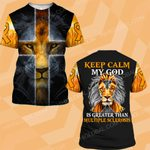 MS awareness keep calm My god is greater than MS ALL OVER PRINTED SHIRTS DH16