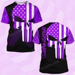 Epilepsy awareness skull warrior ALL OVER PRINTED SHIRTS DH20