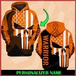 MS awareness skull warrior Personalized Name ALL OVER PRINTED SHIRTS DH19
