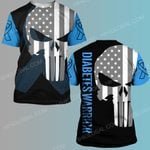 Diabetes awareness skull warrior ALL OVER PRINTED SHIRTS DH20