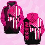 Breast awareness skull warrior ALL OVER PRINTED SHIRTS DH25