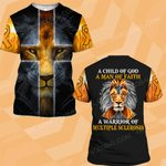 MS awareness a man of faith lion warrior  ALL OVER PRINTED SHIRTS DH30