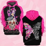 Breast cancer awareness is a journey butterfly flower skull ALL OVER PRINTED SHIRTS DH0102