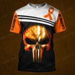 MS awareness skull warrior  ALL OVER PRINTED SHIRTS DH0103