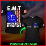 US EMT Personalized Name  ALL OVER PRINTED SHIRTS 122603