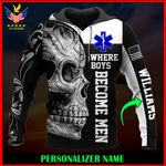 US EMT Personalized Name  ALL OVER PRINTED SHIRTS 122604