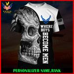 US Air Force Personalized Name  ALL OVER PRINTED SHIRTS 122601