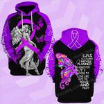 Lupus awareness fight like a girl angel ALL OVER PRINTED SHIRTS DH0104