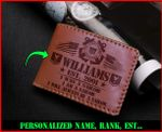 US Coast Guard USCG Personalized Wallet 010403