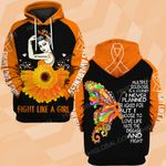 MS awareness fight like a girl butterfly ALL OVER PRINTED SHIRTS DH0107