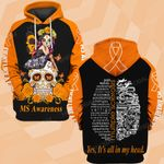MS awareness yes it's all in my head ALL OVER PRINTED SHIRTS DH010702