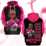 Breast cancer awareness quitting is not  ALL OVER PRINTED SHIRTS DH0108