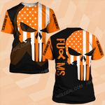 MS awareness skull US flag MS warrior ALL OVER PRINTED SHIRTS DH0109