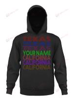 Texas California Personalized Name