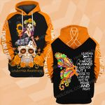 Leukemia awareness is a journey butterfly skull flower ALL OVER PRINTED SHIRTS DH0203