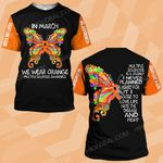 MS awareness In March we wear orange butterfly MS ALL OVER PRINTED SHIRTS DH020402