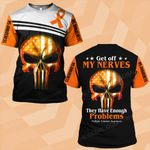 MS awareness get off my nervers skull warrior MS ALL OVER PRINTED SHIRTS DH0204