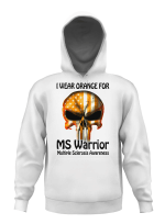 I wear orange for MS warrior skull Multiple Sclerosis Awareness