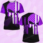 Fibromyalgia awareness skull warrior  ALL OVER PRINTED SHIRTS DH0208