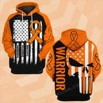 Multiple Sclerosis Awareness US flag skull warrior ALL OVER PRINTED SHIRTS DH0211