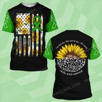 Mental health awareness the sun will rise and we will try again sunflower ALL OVER PRINTED SHIRTS DH0211