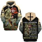 I am a daughter of the King for my God I do not fear because I am his ALL OVER PRINTED SHIRTS DH0218