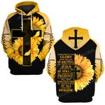 Surrounded by your glory what will my heart feel Sunflower cross Jesus God Christian
