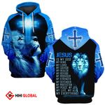Jesus is my God my Lord my King my Everything Blue lion ALL OVER PRINTED SHIRTS DH0225