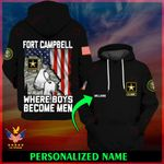 U.S. Army Fort Campbell Where boys become men ALL OVER PRINTED SHIRTS 022502