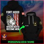 U.S. Army Fort Hood Where boys become men ALL OVER PRINTED SHIRTS 022503